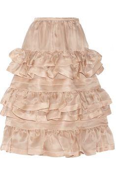 No. 21Gigliola ruffled silk organza skirt