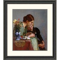 """Global Gallery 'The Flowers' by Charles Frederick Ulrich Framed Painting Print Size: 32"""" H x 28.38"""" W x 1.5"""" D"""