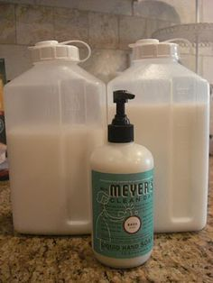 Use glycerin soap (1 cup of water for every ounce of bar soap) and vinegar for any disinfecting soap (body wash, hand soap, dish soap)!!  I even put a little of it in a spray bottle with vinegar and lots of water for a spray for my son's cloth wipes.