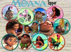 Moana Cupcake Topper  Moana  Birthday Party от RainbowPrintables