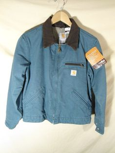 NEW Carhartt Women's Sandstone Detroit Jacket LINED Coat Turquoise -Size-XS 0-2 #Carhartt #BasicJacket