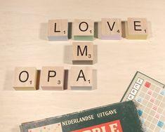 Stel zelf uw naam samen met deze leuke scrabble letterbox