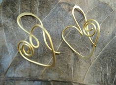 Perfect pair of #hearts made from brass wire. #valentine special