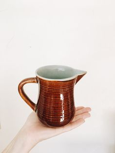 Vintage Milk Pitcher by FernwoodGoods on Etsy