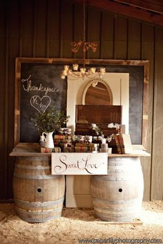 Whiskey/Wine Barrel Decorations  The Funky Shack: Surprise Wedding At Vinewood Weddings and Events