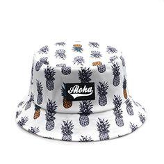 Earring Box, Cotton Hat, Cute Hats, Hat Sizes, Bucket Hat, Fashion Brands, Pineapple, Hawaii, University