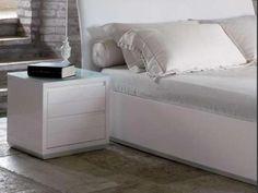 Italia Moderna Two Drawer Bedside White Bedside Cabinets, Boy Room, High Gloss, Mattress, Home Goods, Drawers, Storage, Oakley, Bathroom Ideas