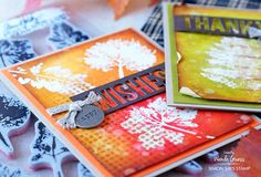 Tim Holtz stamps and dies. Emboss Resist technique by Wanda Guess. Ranger Distress Inks. Sizzix dies. Leaf Prints stamp set.