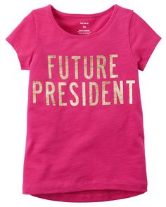 Toddler Girl Future President Hi-Lo Tee | Carters.com