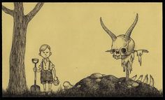 John Kenn Mortensen, who goes by the name Don Kenn, is a Danish artist who draws disturbing monster pictures using only sticky notes as his canvas. Art And Illustration, Dark Art Illustrations, Arte Post It, Post It Art, Rpg Horror, Horror Art, Monster Drawing, Monster Art, Monster Hunter