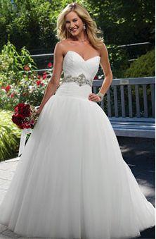 sweetheart neckline with a dropped waist wedding dress