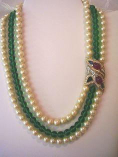 jewelry of india's Ruby Jewelry, Emerald Jewelry, Bead Jewellery, Stone Jewelry, Jewelry Sets, Beaded Jewelry, Beaded Necklace, Strand Necklace, Necklaces