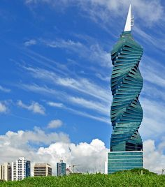 The Revolution Tower - Panama City, Republic of Panama;  797 feet tall (including the spire);  mostly office space, with some residential;  designed by Pinzon Lozano;  photo by _Zinni_, via Flickr