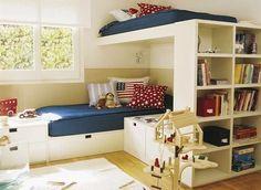 Ciekawie urządzony pokój dla dwójki chłopców czyli jak urządzić 1 sypialnię dla 2 dzieci - zobacz efektowne, a przy tym funkcjonalne rozwiązanie amerykańskiego pokoju dla dzieci i zainspiruj się!