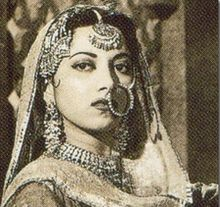 Suraiya Jamaal Sheikh known as Suraiya(Urdu( ثریا)[1][2][3] or Suraiyya (15 June 1929 - 31 January 2004) was a singer and actress in Indian films in the 40s and 50s. She was a popular actress and singer and was given the honorific title of Malika-e-Tarannum (Urdu: ملکہ ترنم, English: the queen of melody) in the sub-continent.Later the title was given to Noor Jehan 1930-1947,1963. http://en.wikipedia.org/wiki/Suraiya
