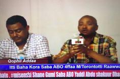Itti baha Kora Saba ABO 4ffaa laalchise Ob.Yaddiin Ibsa bal,aa kennan. | شبكة مستقبل اوروميا للاخبار