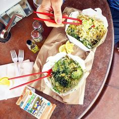 #Repost @diane.practicalpaleo  HOW CUTE ARE THESE FORK-STICKS?!  Lunch in Redding CA while on the road trip today from San Francisco to Portland at Wilda's Grill.  ## Our order (x2): Buddha bowl with grilled chicken no beans no sauce. They had brown rice in them which we don't normally eat at home but it was fine for this meal.  ## We got the Asian sauce on the side for @fullbodyfix as it is Tamari-based and works fine for him but I react (my face bloats) to soy so I left it off mine. I…