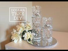 Diy Glamour Bling Mirror Tray Dollar Tree Craft All