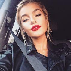 Jean Watts red lips! Love it