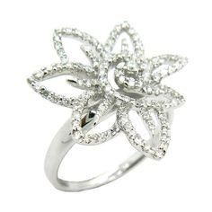 D'sire 18k White Gold 3/4ct TDW Diamond Fashion Ring (G-H,VS1-VS2)