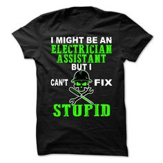 Electrician Assistant T-Shirts, Hoodies. VIEW DETAIL ==► Funny Tee Shirts
