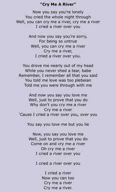 Michael Buble - Cry Me A River im trying to learn this song