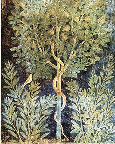 Pompeii Pompeii Italy, Pompeii And Herculaneum, Fresco, Ancient Rome, Ancient Art, Art Romain, Snake Art, Art Antique, Roman Art