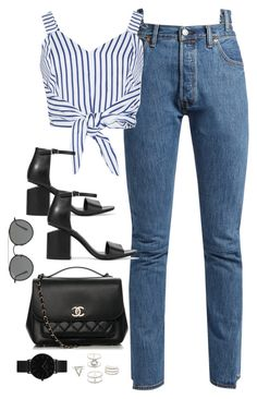 """Untitled #3928"" by theaverageauburn ❤ liked on Polyvore featuring Vetements, WithChic, Alexander Wang, Chanel, Ray-Ban, Charlotte Russe and CLUSE"