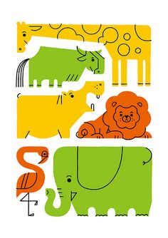 110 Satake Shunsuke  Possible Door Dec? Cut out each individual animal!