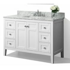 DESIGN HOUSE® CONCORD BATHROOM VANITY CABINET, READY TO ASSEMBLE, 2 DOOR,  WHITE