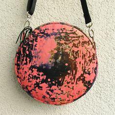 lukola handmade: Okrągła torebka KOSMICZNA