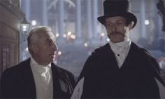 André Téchiné  Les sœurs Brontë (The Brontë Sisters), 1979, featuring Roland Barthes (left) in the role of William Makepeace Thackeray