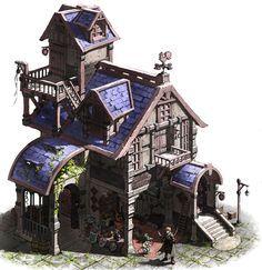 Картинки по запросу steampunk concept art buildings