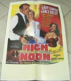 Poster/Locandina HIGH NOON Gary Cooper & Grace Kelly Fred Zinnemann, Gary Cooper, High Noon, Grace Kelly, Father, Poster, Platform, Board, Shop