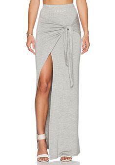 De Lacy Monica Maxi Skirt em Cinza Urze | REVOLVE