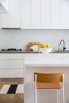 *kitchen cabinets, drawers, storage, matches rest of house* - Interior decorator, stylist and blogger, Briar Stanley shares here Sydney  Northern Beaches abode which she aptly describes as 'Scandi by the Beach'.