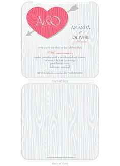 Wood Heart Anniversary Invitation | Storkie.com