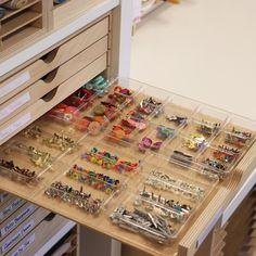 Drawer Cabinet Half Tray - Stamp-n-Storage Bead Storage, Craft Room Storage, Jewellery Storage, Craft Rooms, Garage Storage, Pegboard Craft Room, Sewing Room Storage, Ribbon Storage, Craft Room Decor