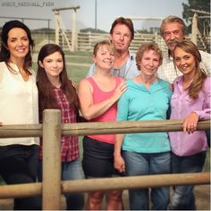 The Heartland gang with Amber's Aunt and Granny. #season9