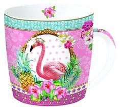 Kaffeetasse rosa Flamingo