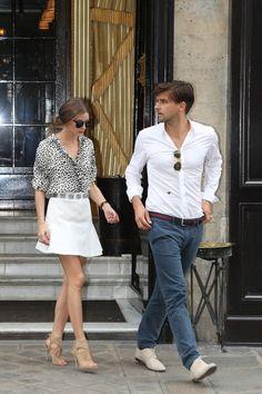 THE OLIVIA PALERMO LOOKBOOK: Olivia Palermo and Johannes Huebl in Paris