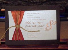 Rustic Country - Wedding Invitations SAMPLE