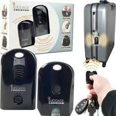Luggage Locator with Remote - Black This black Luggage Locator with remote will make it easier to locate your bags in an instant! No more waiting or struggling to find which bag is yours! Simply click on the remote and this suitcase locator will identify your luggage. Click Pic for More Info