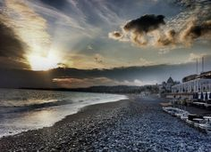Beautiful view of the beach in Nice, French Riviera