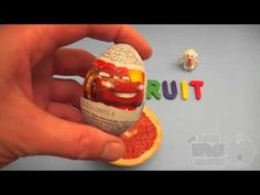 Surprise Eggs Kinder Disney Cars Surprise Egg Learn-A-Word! Spelling Fru...