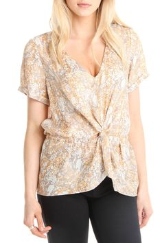 Nombre Print Knot Top in Snake - Beyond the Rack