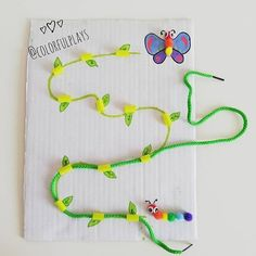 You can show how a cute 🐛caterpillar grows into a beautiful 🦋 butterfly thanks to and this fun DIY while learning 🤚 hand 👁… Motor Skills Activities, Toddler Learning Activities, Montessori Activities, Infant Activities, Preschool Crafts, Preschool Activities, Kids Learning, Crafts For Kids, Childhood Education