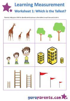 Measurement Worksheets, English Worksheets For Kids, Kindergarten Math Worksheets, Preschool Activities, Kids Worksheets, Kindergarten Lessons, Body Preschool, Preschool Math, Sudoku
