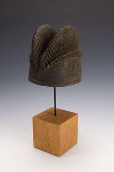 "Afo Mask Headdress Nigeria First half 20th century Wood  7 3/4"" x 8""  19 x 20.5 cm"
