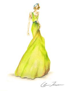 Claire Ashley Thompson is a fashion illustrator and watercolor artist. Illustration Mode, Fashion Illustration Sketches, Fashion Sketchbook, Fashion Design Sketches, Fashion Artwork, Paper Fashion, Watercolor Fashion, Moda Fashion, Costume Design
